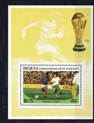 St Vincent Grenadines Bequia $1.  75 M/sheet Football World Cup 1986 photo