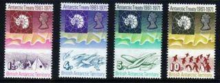 British Antarctic Territory 1971 Antarctic Treaty Sg 38 - 41 Unmounted photo
