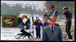 South Georgia & South Sandwich Is 2000 18th Birthday Prince William Mini Sh U/m photo