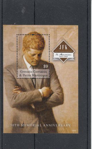 Grenada Grenadines 2013 President John F Kennedy 50th Memorial 1v Sheet Jfk photo