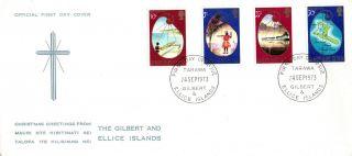 Gilbert & Ellice Isl 24 September 1973 Christmas First Day Cover Fdi photo