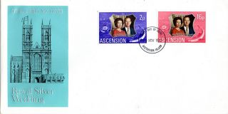 Ascension Island 10 November 1972 Royal Silver Wedding First Day Cover photo