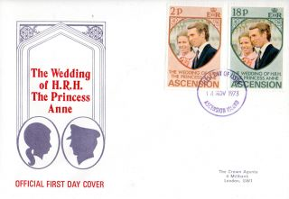 Ascension Island 14 November 1973 Royal Wedding First Day Cover photo