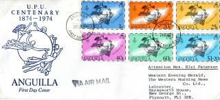 Anguilla 27 August 1974 Universal Postal Union Official First Day Cover Fdi photo