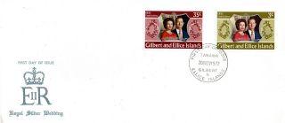 Gilbert & Ellice Isl 20 November 1972 Royal Silver Wedding First Day Cover Cds photo