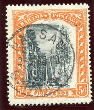 Bahamas 1903 Kevii 5d Black & Orange.  Sg 59.  Sc 34. photo