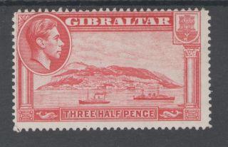 Gibraltar Sg123 The 1938 Gvi 1.  5d Carmine P14 Mm Cat £35 photo