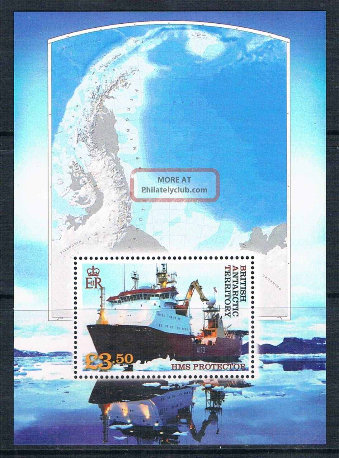 British Antarctic 2012 Hms Protector 1v Ms British Colonies & Territories photo