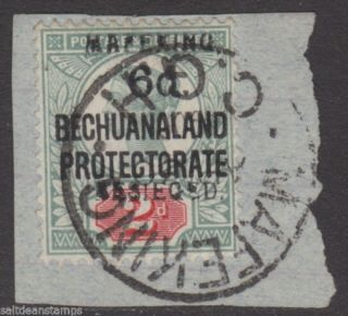 South Africa - Mafeking - 1900 6d.  On 2d.  Green And Carmine On Piece photo