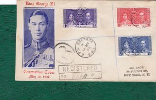 Grenada.  1937 Fdc With Registered Cachets.  Postally. photo