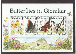 Gibraltar 731a Souvenir Sheet photo