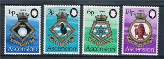 Ascension 1972 Royal Naval Crests Sg154/7 photo