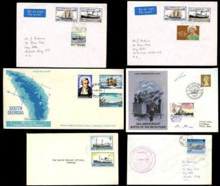 Falkland Islands Ships 6 Items 1974 - 95 Inc Signed Antarctic Fdc + Sport Etc photo