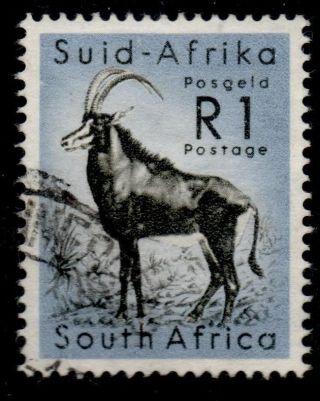 South Africa Sg197 1961 1r Black & Cobalt photo