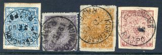 India (kishangarh) : 1899 - 1901 Four Values Sg 26a,  28,  30 & 31/b (cat £15+) photo