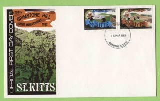 St.  Kitts 1982 Brimstone Hill Seige Anniversary First Day Cover photo