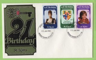 St.  Kitts 1982 Princess Diana 21st Birthday First Day Cover photo