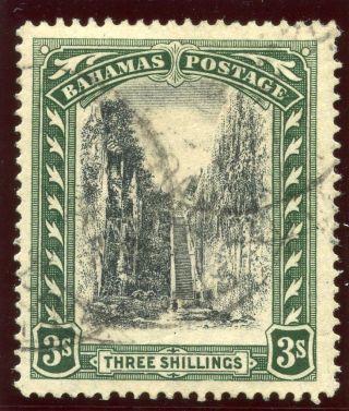 Bahamas 1924 Kgv 3s Black & Green.  Sg 114.  Sc 82. photo