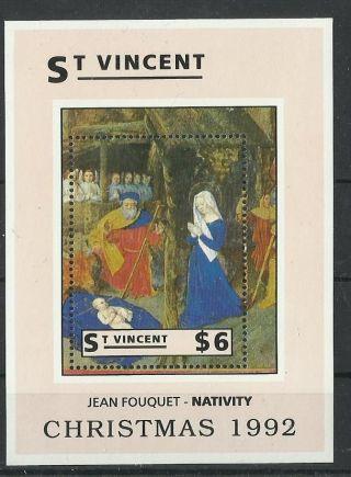 1301.  St Vincent 1992 Christmas S/s photo