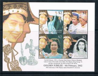 St Vincent 2002 Golden Jubilee 4v Sheet Sg 5111/4 photo