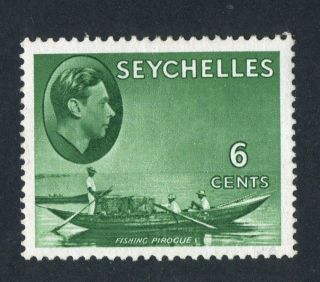 Seychelles 1941 Kgvi.  6c Green.  Mh.  Og. photo