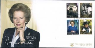Ascension Is 2013 Lady Margaret Thatcher 4v Fdc photo