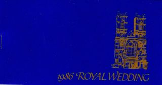 Royal Wedding 1986 - Prince Andrew & Sarah Ferguson - Stamp Booklet - St Vincent photo