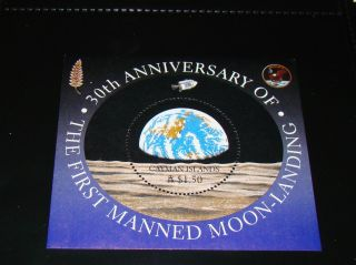 Postage Stamp - 30th Anniversary Of First Manned Moon Landing Caymen Islands photo