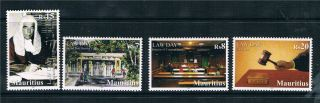 Mauritius 2012 Law Day 4v Issue photo