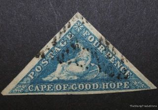 Cape Of Good Hope Triangle Cgh Triangular Stamp Sg4a Blue C12 photo