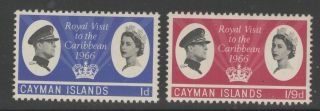 Cayman Islands Sg192/3 1966 Royal Visit Mtd photo