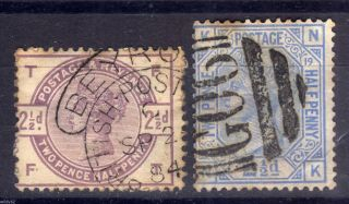 Gb Abroad: British Levant: Beyrout G06/cds 2½d Values,  Sg Z8,  Z43 photo