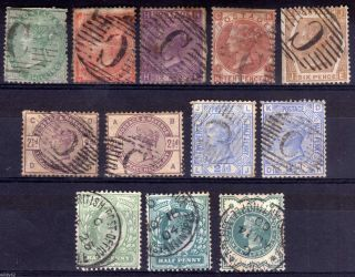 Gb Abroad: British Levant: Constantinople 1857 - 1904 Selection,  Faults,  (12) photo
