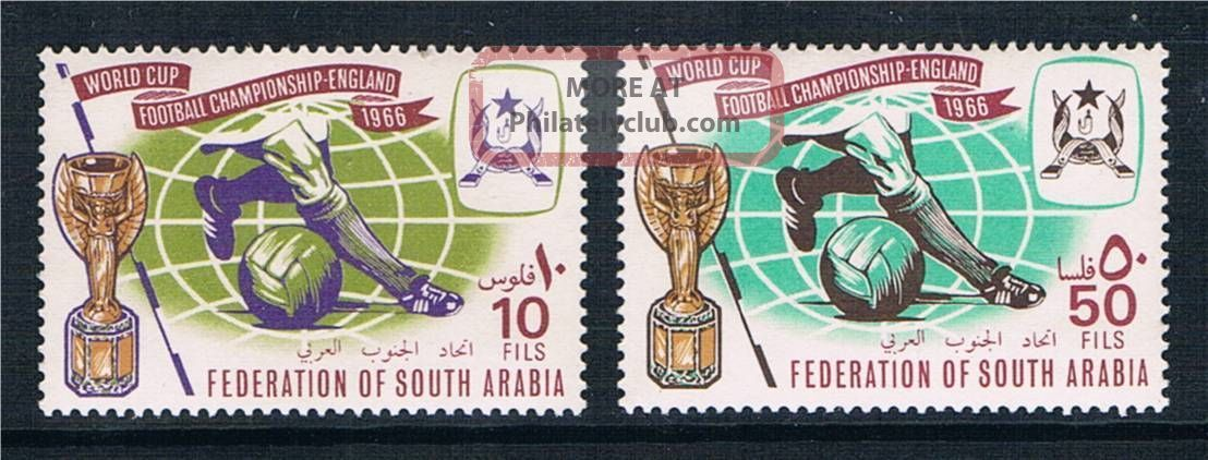 South Arabia 1966 World Cup Football Sg 23/4 British Colonies & Territories photo