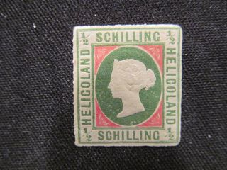 1867 Mogh Heligoland 1/2 Schilling Stamp 1a Copy.  Fill That Open Space In You photo
