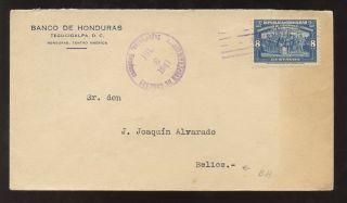 British Honduras 1941 Tegucigalpa To Belize photo