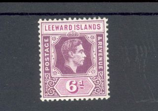Leeward Islands Kgvi 1938 - 51 6d Deep Dull & Bright Purple Sg109,  Mm photo