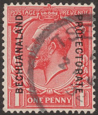 Bechuanaland Protectorate 1925 Kgv 1d Opt Sg92 Tsessebe Proud D3 Postmark photo