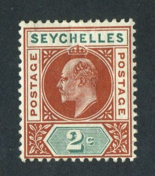 Seychelles 1903 Kevii.  2c Chestnut & Green. .  Og. photo