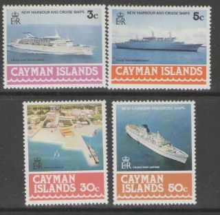 Cayman Islands Sg441/4 1978 Harbour & Cruise Ships photo