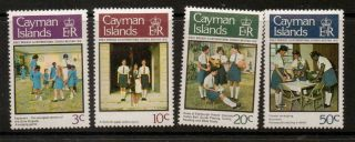 Cayman Islands Sg464/7 1978 Girls Brigade photo