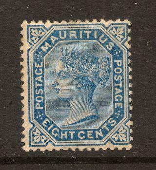 Mauritius: 1880 8 Cents Blue Sg 94 photo