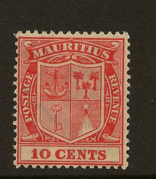 Mauritius: 1926 10c Carmine - Red Sg 216 Very Lightly Mounted photo