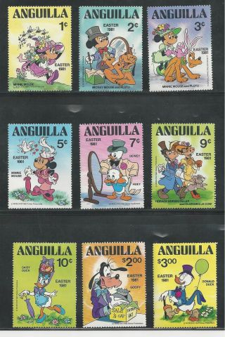 Anguilla 434 - 442 Disney Easter 1981 photo