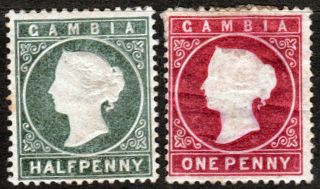 [a462] Gambia Scott 12 & 13 Hinged photo