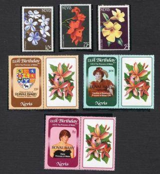 Nevis 1975,  198s Sc 365 - 366,  374,  153 - 155, .  Aw115 photo
