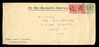 British Guiana 1915 Science + Agriculture Ohms Envelope photo
