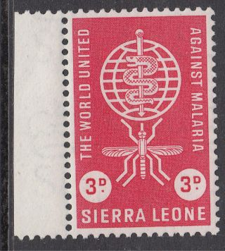 Sierra Leone 3d Malaria Eradication Margin Mnh; Sg 240 photo