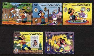 Dominica 919 - 23 Mh Disney,  Mark Twain,  Mickey,  Animals,  Goofey photo