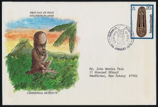 Solomon Islands 365 Fdc Art,  Artifacts photo